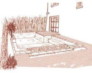 Landscaped swimming pool project
