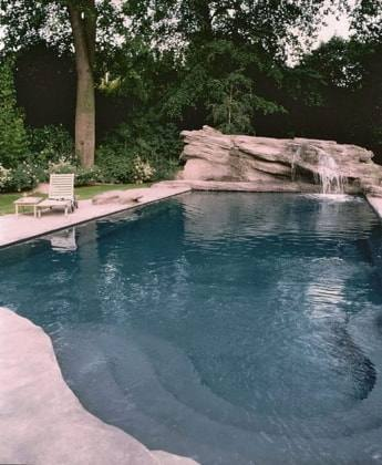 landscaped swimming pool
