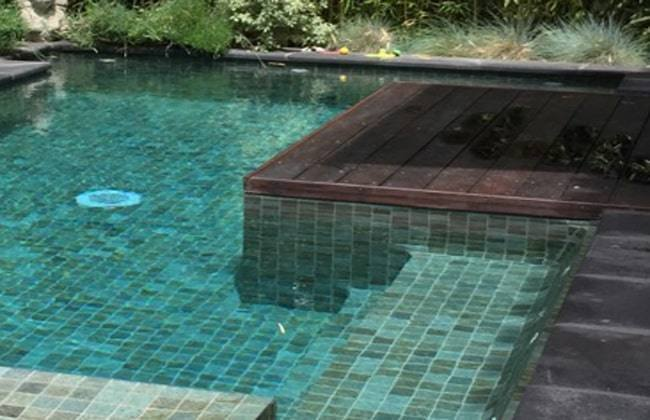 Balinese natural stone swiming pool tiling
